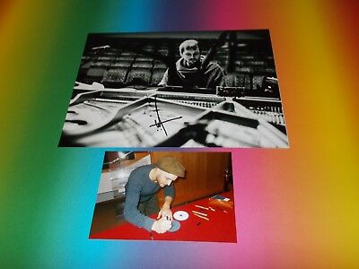 Nils Frahm composer signed autograph Autogramm 8x11 inch photo in person