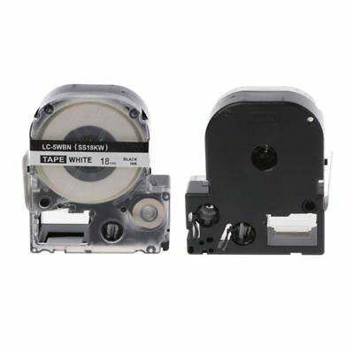 Black on White Label Tape Compatible Epson Label Tapes 18mm for LC-5WBW LW-300
