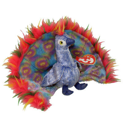 TY Beanie Baby - FLASHY the Peacock (5.5 inch) - MWMTs Stuffed Animal Toy