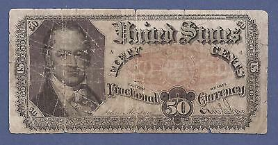 1874-1876 5th Issue 50¢ Fractional Currency,FR 1381,Crawford,Very Good,Nice!