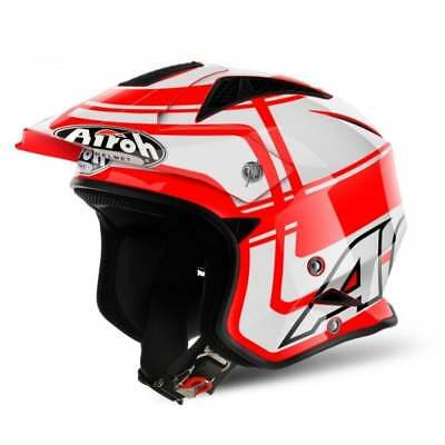 Airoh Adultes Trr S Wintage Moto Casque Trial - Rouge
