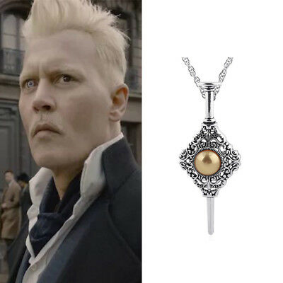 Fantastic Beasts 2 Crime of Grindelwald BLOOD PACT Charm Necklace 1-Face Cosplay