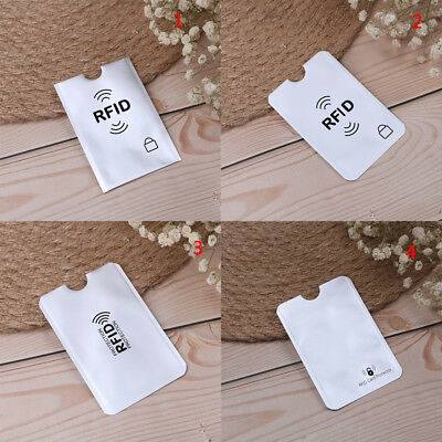 10pcs RFID credit ID card holder blocking protector case shield cover JG