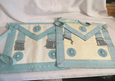 2 Masonic Craft Master Mason Aprons (72)