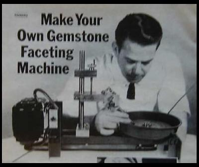 Gemstone Faceting Machine Lapidary How-To build PLANS