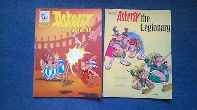 2 x VINTAGE ASTERIX  COMIC BOOKS, PAPERBACK. CHARITY SALE