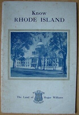 1947 Know Rhode Island, Facts Concerning The Land Of Roger Williams
