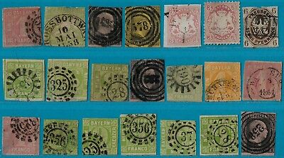 + Early Era German States Bavaria Prussia Wurttemberg Lot Collection used