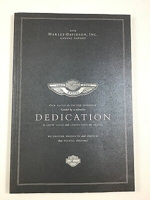 Harley Davidson Incorporated 2003 Annual Report ~ Dedication Cover