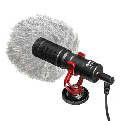 BOYA BY-MM1 Microphone Video for iPhone Samsung Canon Nikon Camera Camcorder