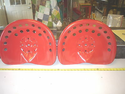 6  Red Steel Old Style  Farm  Machine  Tractor Metal Bar Stool  Seat