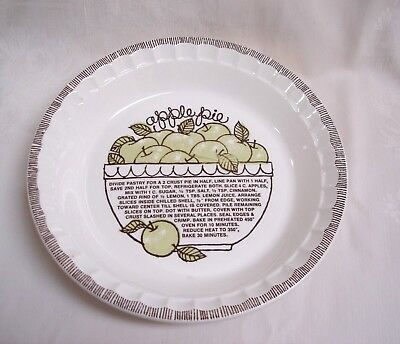 Country Harvest Apple  Pie Recipe Plate / Dish 1983 Royal China Made In Usa