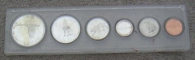 Canada 1867-1967 Six Coin Mint or Year Set in Whitman Aurora Holder Case Lot