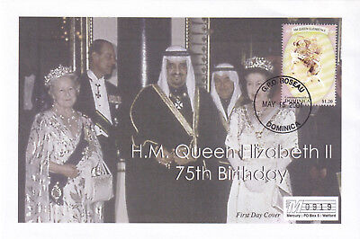(21888) Dominica Mercury Cover Queen 75th Birthday 15 May 2001