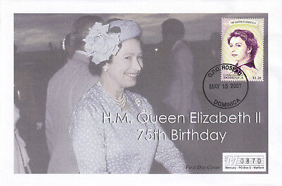 (21889) Dominica Mercury Cover Queen 75th Birthday 15 May 2001