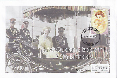 (21880) Dominica Mercury Cover Queen 75th Birthday 15 May 2001