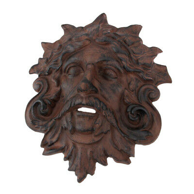Zeckos Cast Iron Celtic Green Man Wall Hanging Antiqued Finish