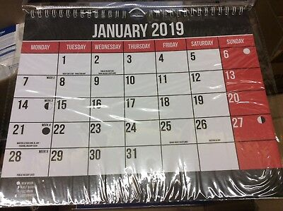 2019 Commercial Easy View Wall Planner Calendar Office New