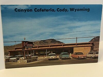 Vintage 1960s Canyon Cafeteria Cody Wyoming Postcard