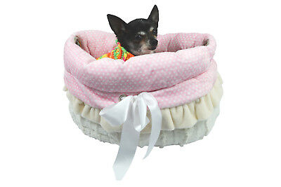 Pet Flys Reversible Snuggle Bugs Dog Bed, Dog Carrier & Dog Car Seat All-in-one