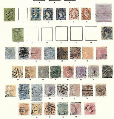India stamps 1854 Collection of 41 CLASSIC stamps HIGH VALUE!