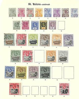 St Helena stamps 1900 Collection of 29 CLASSIC stamps HIGH VALUE!