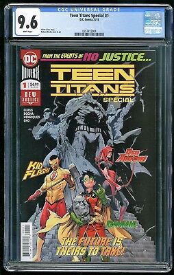 Teen Titans Special #1 - CGC 9.6 NM+ - DC 2018 - 1st Appearance of Crush!