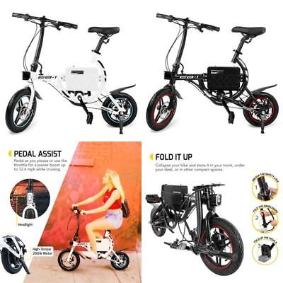 SwagCycle EB-1 Classic Lightweight Aluminum Folding eBike with High-Torque 250W