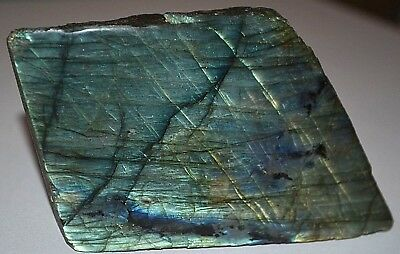 Labradorite Natural Rough Specimen One Polished Face Cut Base Stands For Display