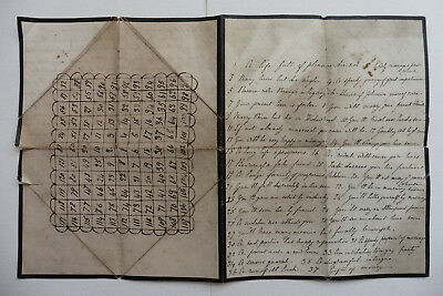 Victorian Or Earlier? Fortune Telling Game, Paper, Hand Made.