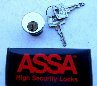 ASSA HIGH SECURITY  CYLINDER    with 2 TWIN keys V-10