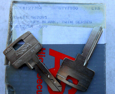 (1)  ASSA Twin Series   Uncut Key Blank   FITS ASSA OEM
