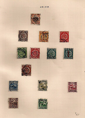 Old China Collection On 3 Pages Used And Mint Fine-V.fine Look !!!!!!!!!!!!!!!!!