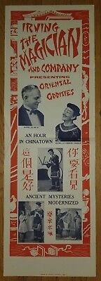 IRVING THE MAGICIAN AND COMPANY Magic Poster Chicago - Oriental Oddities