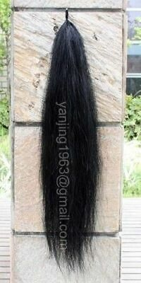 """Brand New Single Thickness Jet Black Horse Tails Extension 3/8Lb 28-30"""" aB1H"""