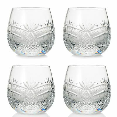 Waterford Crystal Seahorse Nouveau Set of Four 8 oz Double Old Fashioned Glasses