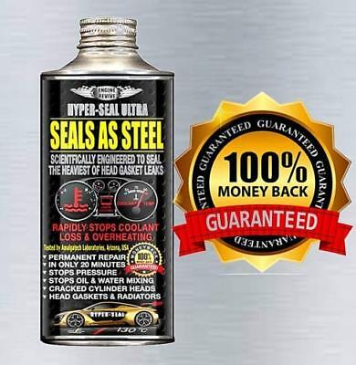 Hyper-Seal Ultra , Seals As Steel - Heaviest Head Gasket Leaks Repair Free P&p