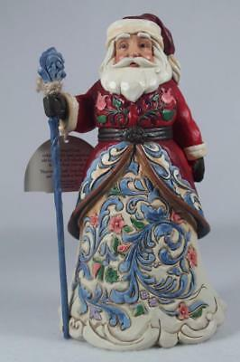Jim Shore 'Jolly Julenissen' Norwegian Santa Figurine #4053705 New In Box