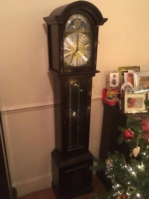 Antique Grandfather Clock No Ball Weights Though