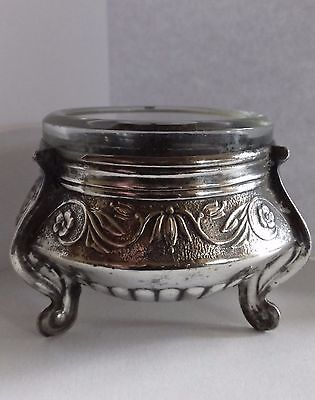 1960s Russian Melchior Silver Open Salt Pepper Cruet Condiment