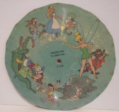 Disney Vintage Cardboard 78 Rpm Record Intro To Disneyland Poss From Cereal Box?