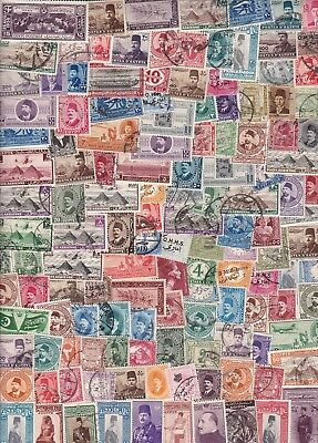 Egypt Vintage  Collection/accumulation 300+ Stamps