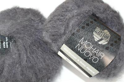Wolle Kreativ! Lana Grossa - Mohair Nuovo - Fb. 2 anthrazit 10 x 25 g