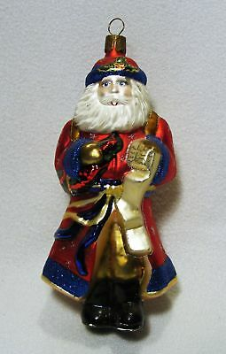 Vintage Waterford Holiday Heirlooms Glass Santa Christmas Ornament**wow!!