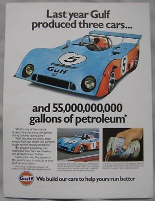 1974 Gulf oil Original advert