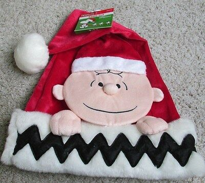 Snoopy Christmas Peanuts Charlie Brown Santa Hat New Red Cute!