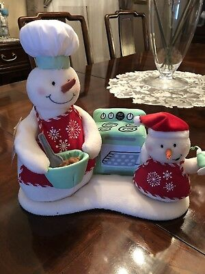 Hallmark Musical Snow Chefs Dancing Singing Snowmen With Tag