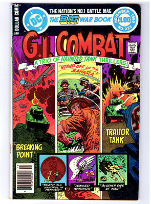 G. I. COMBAT #223 in VF a 1980 DC WAR comic JOE KUBERT cover with Haunted Tank
