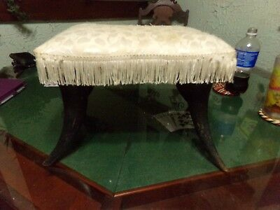 Late1800s - Early 1900s Horn Stool Furniture Footstool Cow