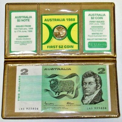 Last $2 Banknote, First $2 Australia Coin Set